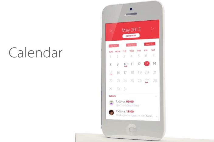 iOS 7 Kalender Konzept von SimplyZesty