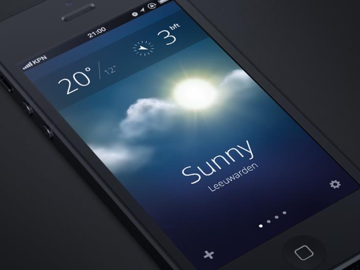 iOS 7 Wetter App Konzept
