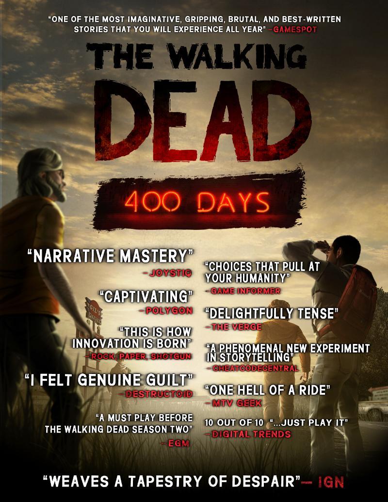 """Telltale bringt Walking Dead DLC Erweiterung """"400 Days"""""""