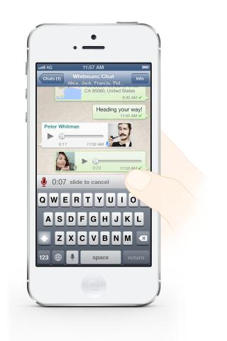 """Beliebter Messenger WhatsApp jetzt mit """"Push To Talk"""" Funktion"""