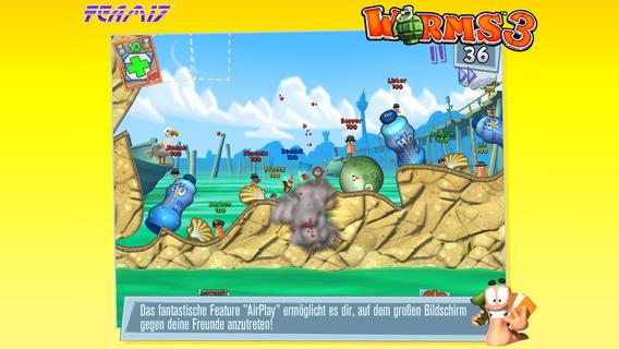 """Spieledonnerstag: """"Worms 3"""" von Team17 kriecht in den App Store"""